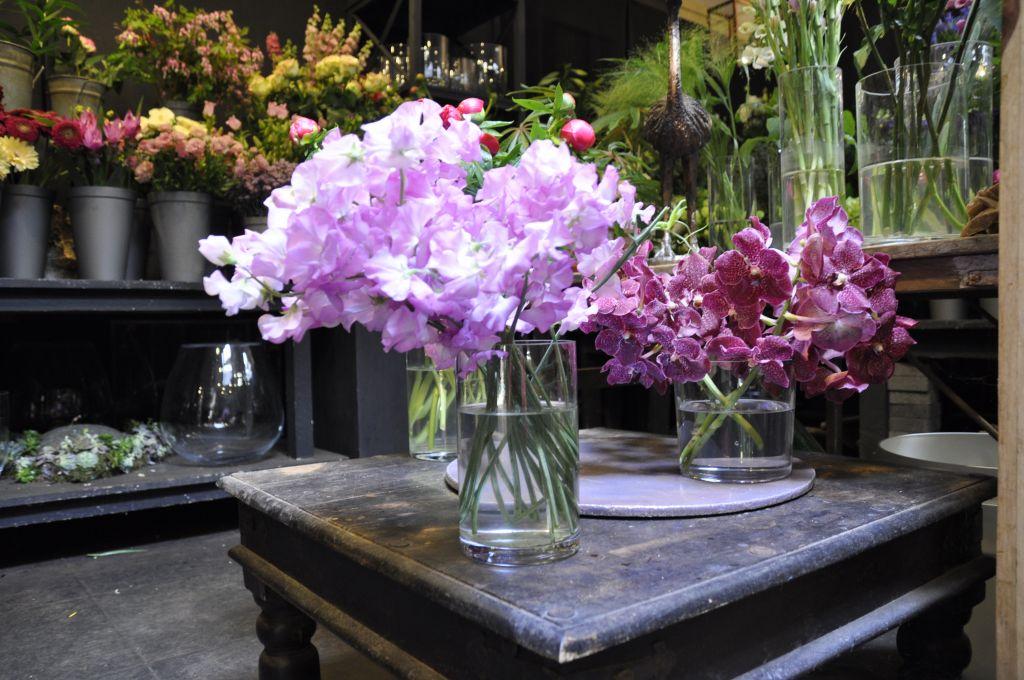 Lathyrus in de bloemenwinkel Ad. Hosman