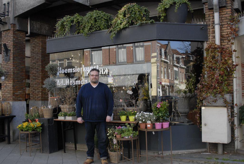 Dennis van de Riet voor zijn bloemenzaak Ad. Hosman